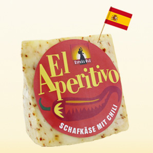 España Olé El Aperitivo sheep cheese with chili